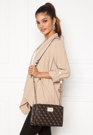Guess Tyren Status Crossbody Brown Stone One size