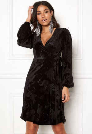 Happy Holly Abrianna velour dress Black 32/34