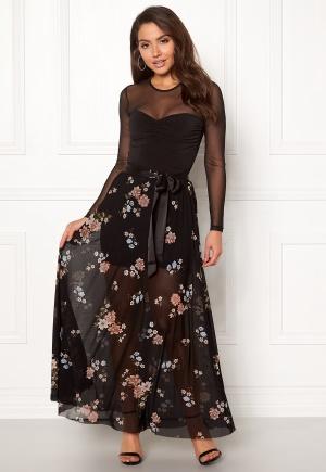 Happy Holly Alaina maxi skirt Black / Patterned 32/34L