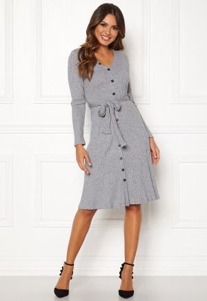 Happy Holly Ava rib dress Grey melange 44/46