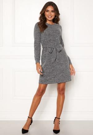 Happy Holly Beatrix belted dress Dark grey melange 40/42