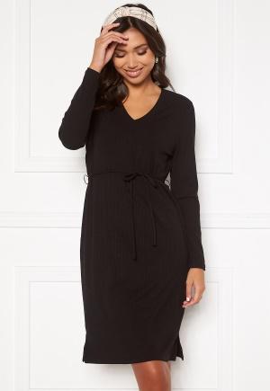 Happy Holly Charlie rib dress Black 52/54