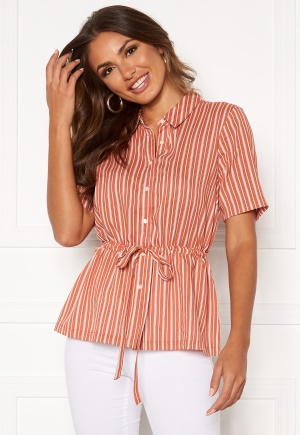 Happy Holly Ebba shirt blouse Coral / Striped 52/54
