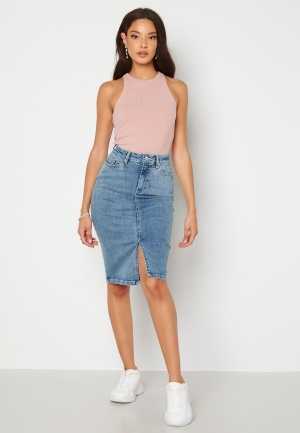 Happy Holly Elina midi denim skirt Medium denim 48