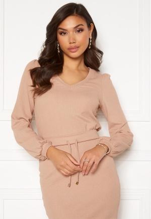 Happy Holly Emilia ls sleeve puff top  Light beige 48/50