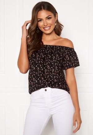 Happy Holly Fredrika singoalla blouse Black / Patterned 48/50