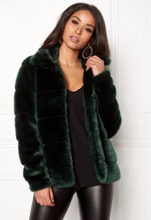 Happy Holly Gia fur jacket Dark green 44/46 Happy Holly