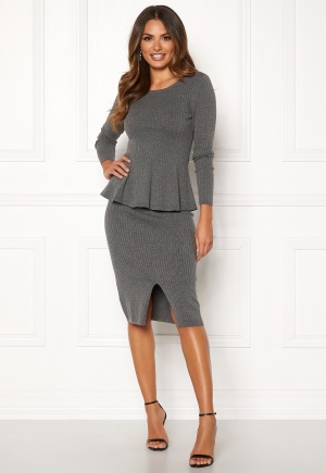Happy Holly Henrietta knitted skirt Grey melange 40/42