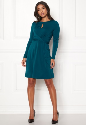 Happy Holly Lucy dress Petrol-blue 48/50S