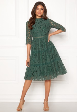 Happy Holly Madison occasion lace dress Dusty green 34
