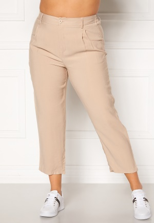Happy Holly Maria straight leg pants Light beige 36/38