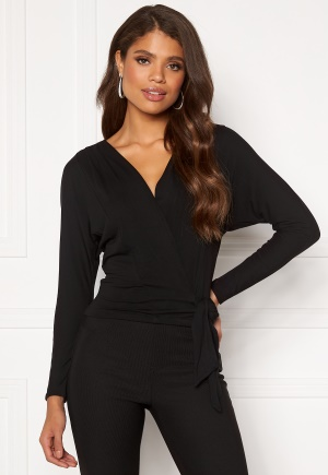 Image of Happy Holly Megan knot top Black 40/42