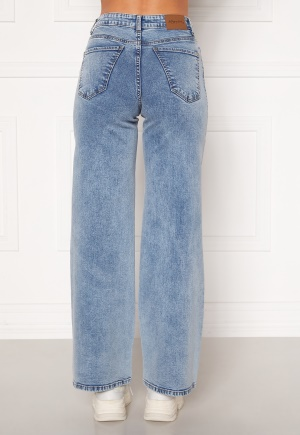 Happy Holly Peggy wide leg jeans Light denim 34S