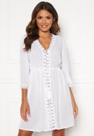 Happy Holly Sienna beach tunic White 32/34S