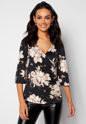 Happy Holly Simone kimono sleeve Black / Patterned 52/54