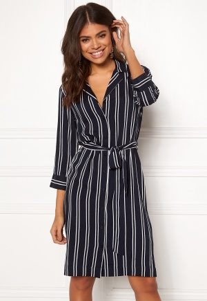 Happy Holly Thea shirt dress Striped 36/38