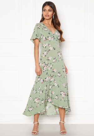 Happy Holly Therese dress Dusty green / Floral 44