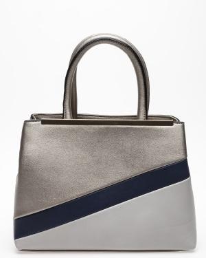 Have2have Handväska, Limerey Silvergrå, mörkblå, grå One size