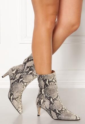 Henry Kole Alison Leather Ancle Boots Snake Grey 37
