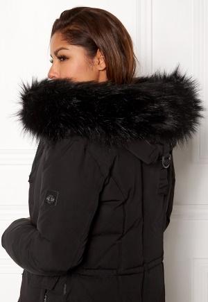 Hollies Collar Fake Fur Black One size