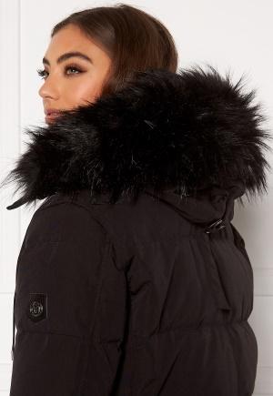 Hollies Collar Subway Fake Fur Black One size