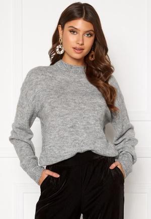 ICHI Amara LS Pullover Grey Melange M