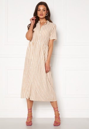 ICHI Gry Dress Natural Striped 36