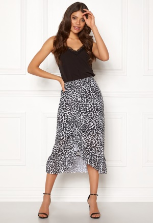 ICHI Pil Skirt Black XL