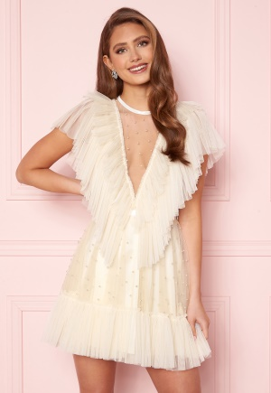 Ida Sjöstedt Nathalie Dress Beaded Tulle Cream 42