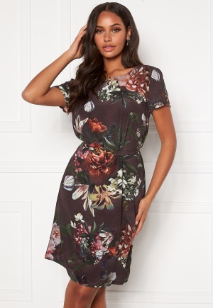 Ida Sjöstedt May Dress Dark Floral Print 36