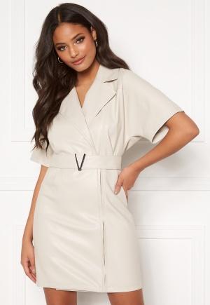 Ivyrevel Belted PU Dress Natural 34