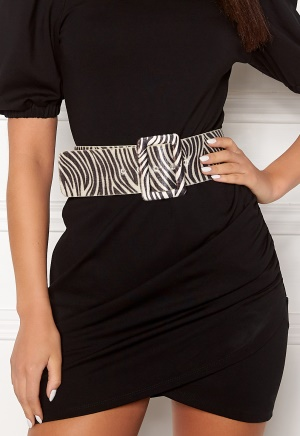 Image of Ivyrevel Faux Pony Hair Belt Black/White XS/S