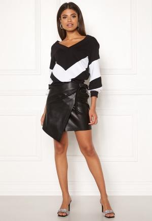 Ivyrevel High Waist Overlap Skirt Black 34