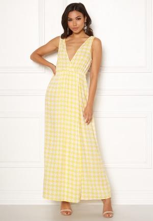 Ivyrevel Maxi Dress With Slit Yellow Pepita Print 40