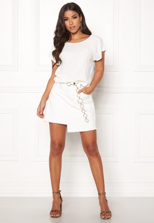 Ivyrevel Raw Edge Denim Skirt White 38