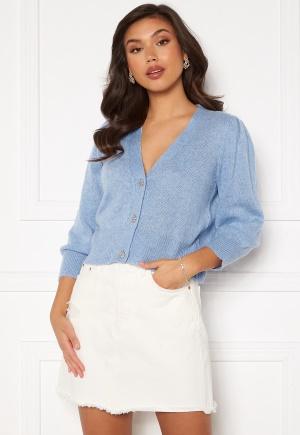 Jacqueline de Yong Aida 3/4 Buttons Cardigan Brunnera Blue/Melang L