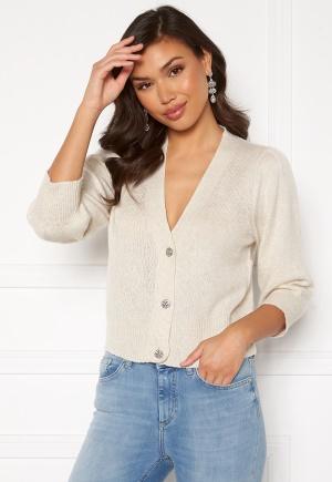 Jacqueline de Yong Aida 3/4 Buttons Cardigan Oatmeal / Melange L