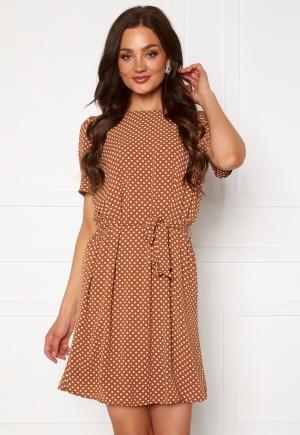 Jacqueline de Yong Amanda S/S Puff Dress Argan Oil AOP Dots 36