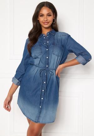 Jacqueline de Yong Bill L/S Shirt Dress Medium Blue Denim 34