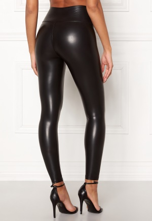 John Zack Faux Leather PU Legging Black L (UK14)