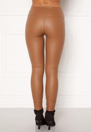 John Zack Faux Leather PU Legging Camel L (UK14)