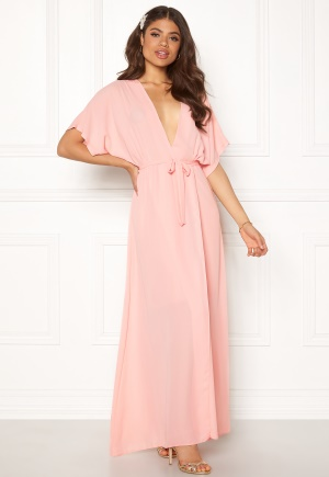 Image of John Zack Kimono Wrap Maxi Dress Rose Pink S (UK10)