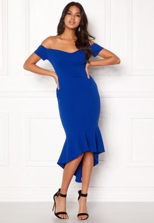 Image of John Zack Off Shoulder High Dress Royal Blue L (UK14)