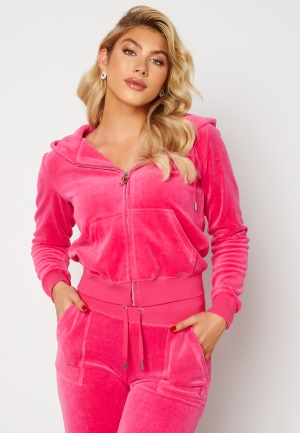 Juicy Couture Cotton Rich Track Top Raspberry Rose L