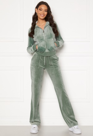 Juicy Couture Del Ray Classic Velour Pant Chinios Green M