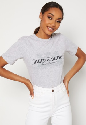 Juicy Couture Dog T-Shirt SIlver Marl L
