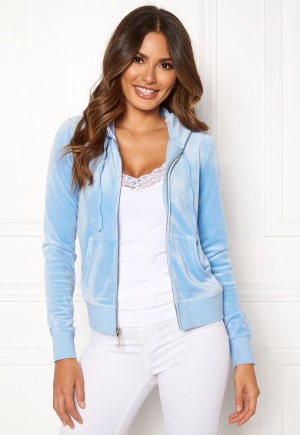 Juicy Couture Luxe Velour Robertson Jkt Varsity Blue XS