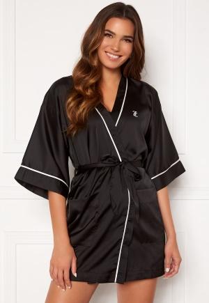 Juicy Couture Peggy Satin Kimono Black L