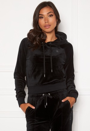 Juicy Couture Sally Classic Velour Hoodie Black S