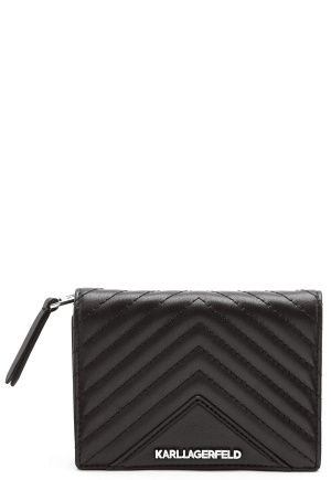 Karl Lagerfeld Classic Quilted Wallet Black One size